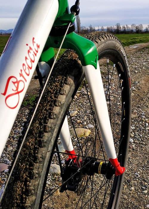 Forcella tricolore Italia Breccia custom bike